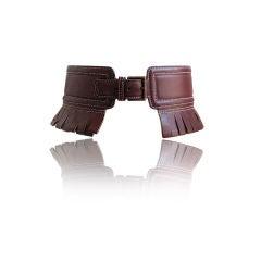 AZZEDINE ALAIA burgundy fringed leather belt