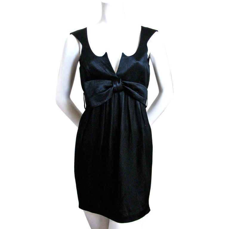 THIERRY MUGLER black mini dress In Good Condition For Sale In San Fransisco, CA