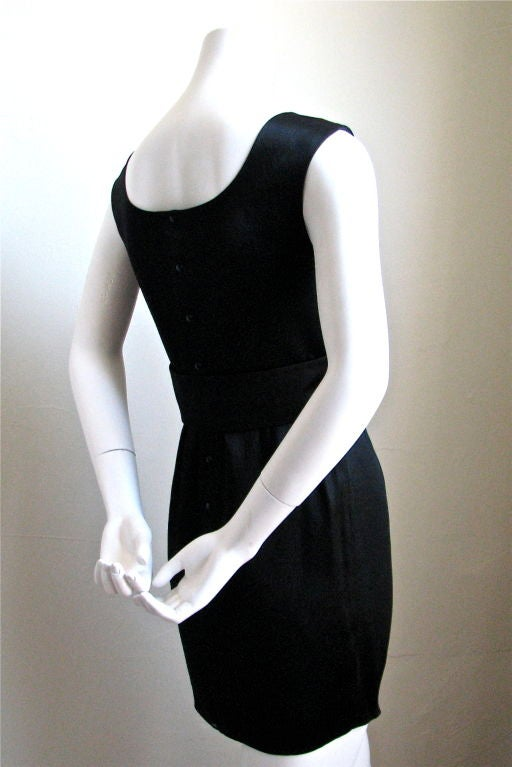 Black THIERRY MUGLER black mini dress For Sale