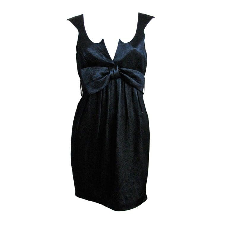 THIERRY MUGLER black mini dress For Sale
