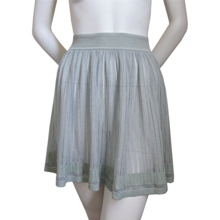 azzedine alaia pale blue skirt at 1stdibs