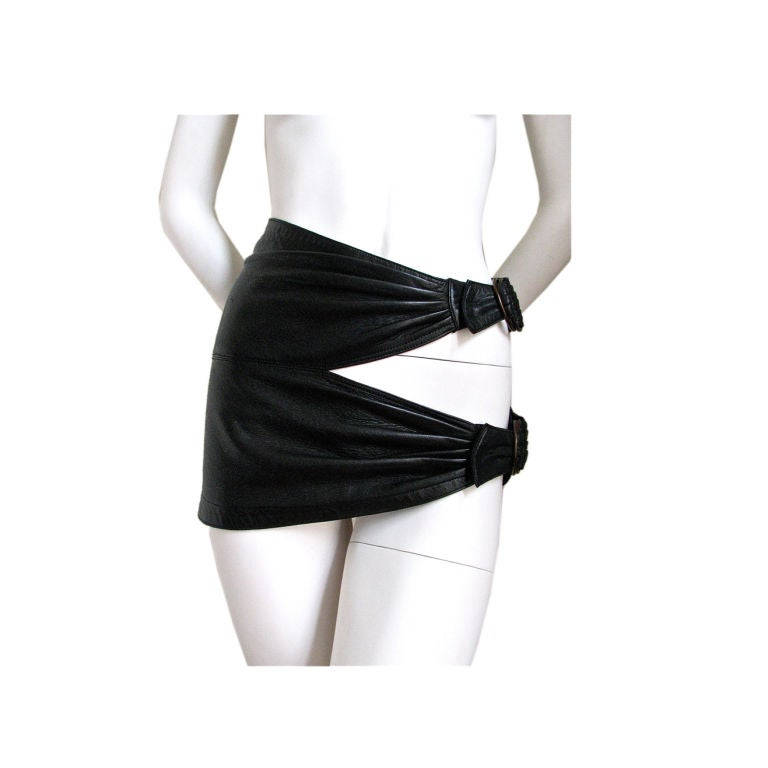 Azzedine Alaia Ultra Mini Leather Skirt With Buckles At Interiors Inside Ideas Interiors design about Everything [magnanprojects.com]