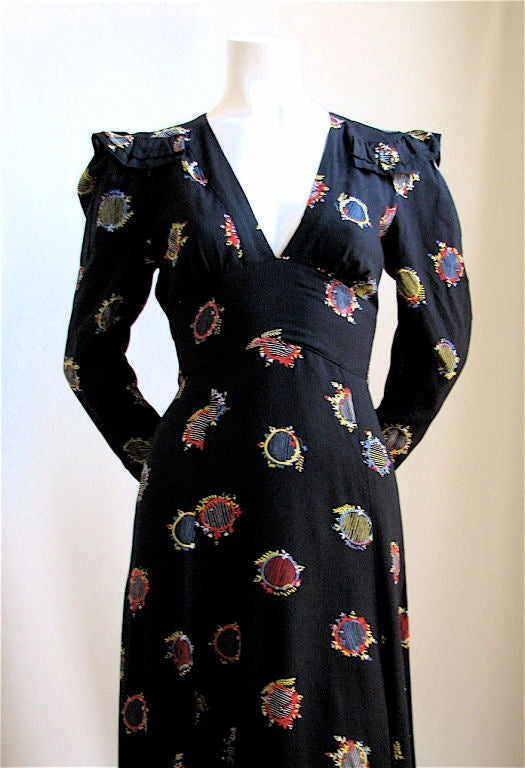 Ossie Clark Dress With Fabric By Celia Birtwell At 1stdibs