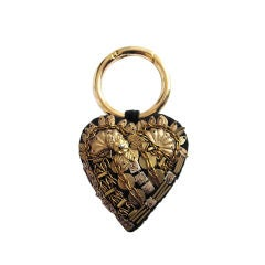 CHRISTIAN LACROIX bullion and velvet key ring