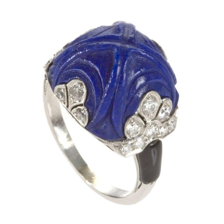 Lapis Lazuli Rose Gold Ring