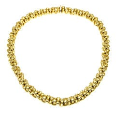 Heavy 18K Gold Link Necklace by Bulgari