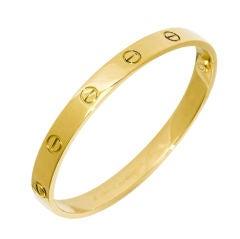 Cartier 18K Classic Love Bracelet
