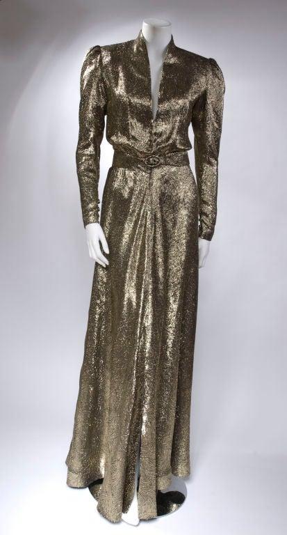 Scherrer Boutique Gold Lamé Gown 4