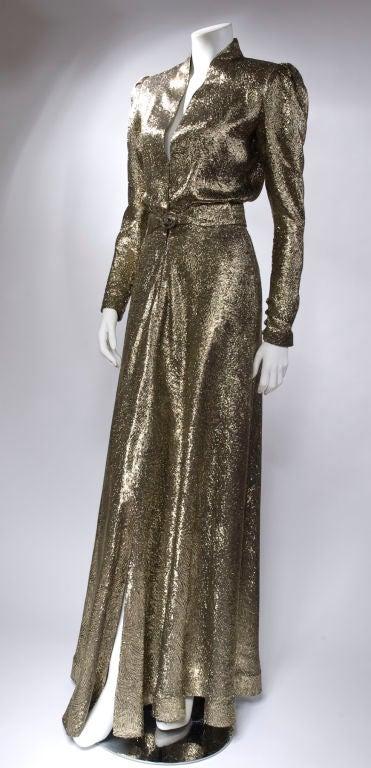 Scherrer Boutique Gold Lamé Gown 5
