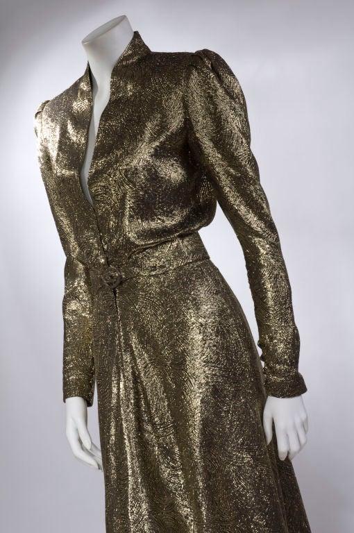 Scherrer Boutique Gold Lamé Gown 6