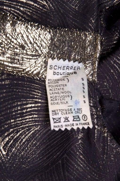 Scherrer Boutique Gold Lamé Gown 7