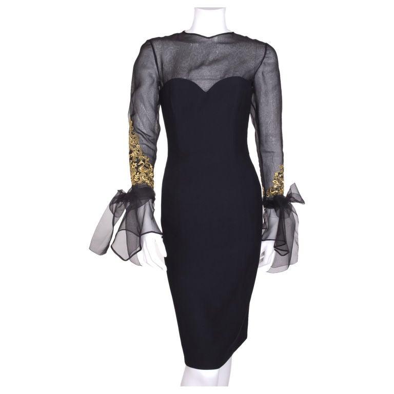 jean louis scherrer boutique cocktail dress at 1stdibs. Black Bedroom Furniture Sets. Home Design Ideas
