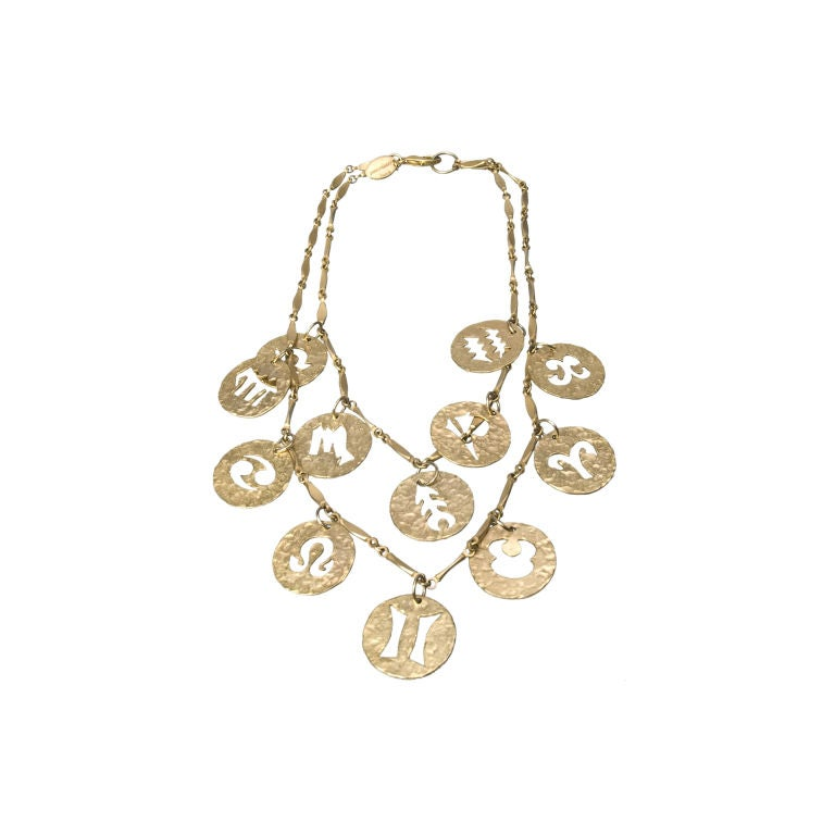 paco rabanne zodiac necklace at 1stdibs