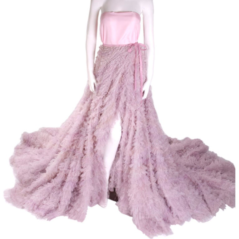 1997 Christian Dior Haute Couture Silk Tulle Skirt At 1stdibs