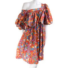 80's Yves Saint Laurent Babydoll Summer Dress