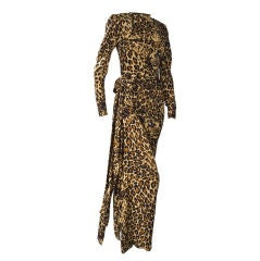 Yves Saint Laurent Leopard Print Gown