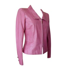 CHANEL 01S Leather Jacket year round weight Pretty in Pink