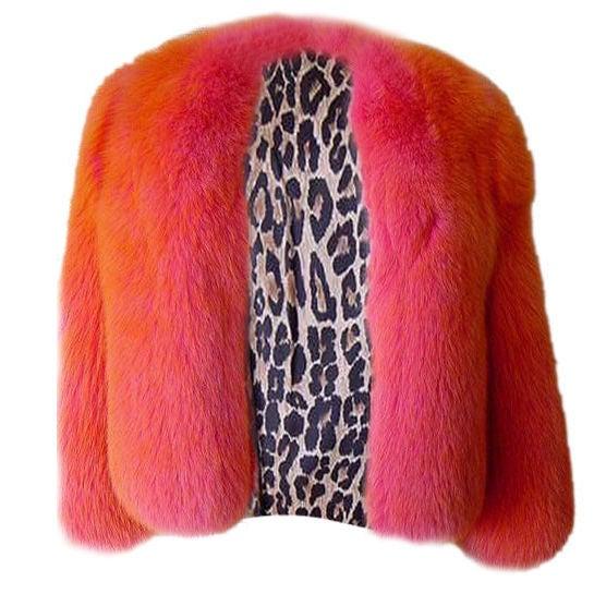 DOLCE&GABBANA 3/4 Sleeve FOX Irredescent Jacket 1