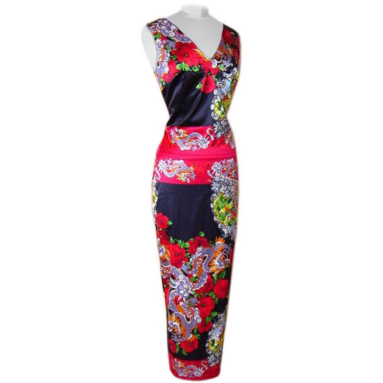 DOLCE&GABBANA Collectors Dress AMAZING Print and Rear Detail 40 fits 4 to 6 1