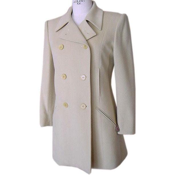 Hermes Vintage Jacket / Car Coat Pale Celadon Green Remarkable Cut 38 For Sale