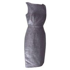 DOLCE&GABBANA Dress Striking Silver Rear Swarovsky Zipper Pull 40 / 6