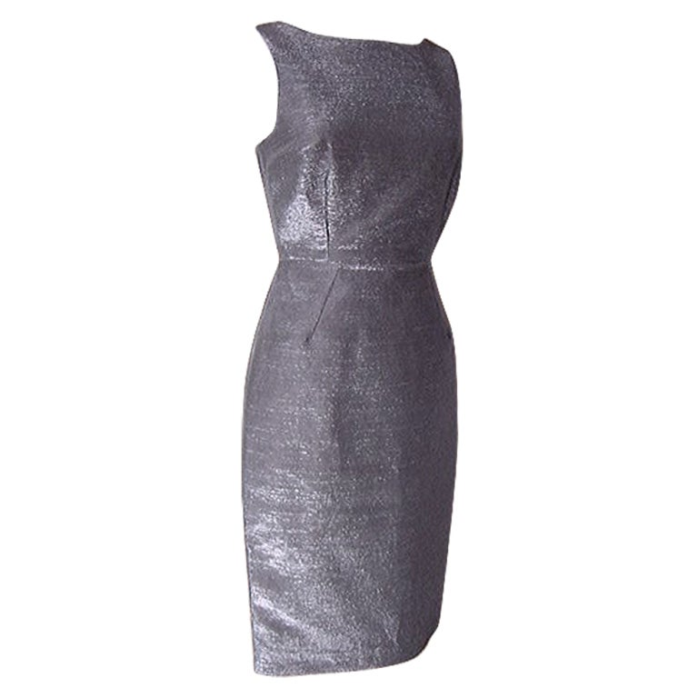 Dolce&Gabbana Dress Striking Silver Rear Swarovski Zipper Pull 40 / 6