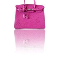 HERMES 35cm Birkin Bag PINK Ostrich Delectable colour