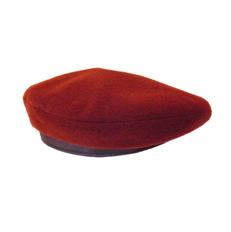 HERMES Beret CASHMERE DEER Leather NEW WoW SO  Rare 1