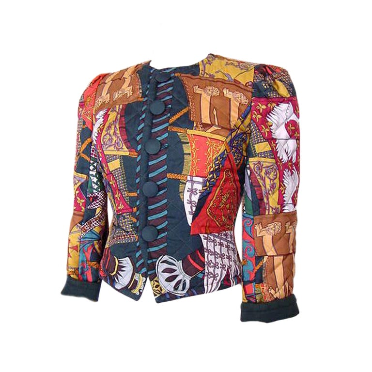 Hermes Jacket Reversible Scarf Print Etendards et Bannieres 36 / 4