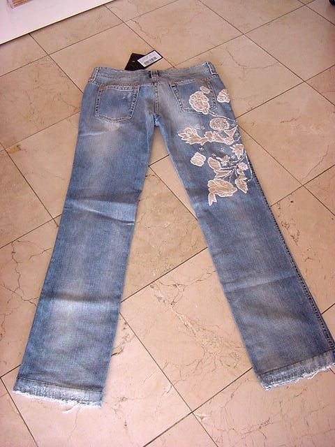 DOLCE&GABBANA Embellished Distressed Jean Smashing Details new 2