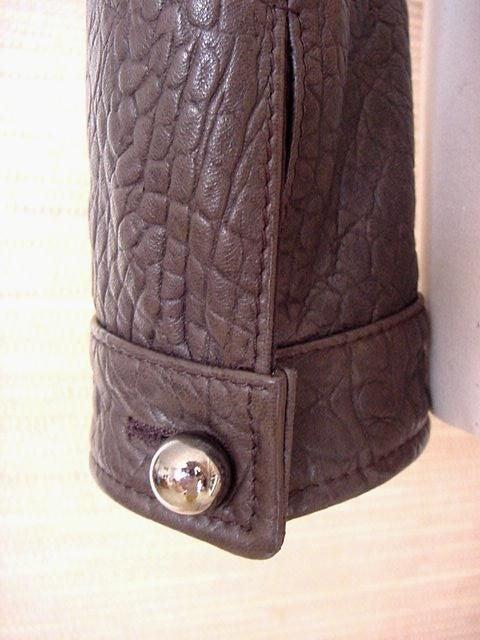 Giorgio Armani Jacket Taupe Leather Hardware Detail 8 / 42 New For Sale 7