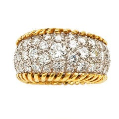 Gold and Diamond Stitch Ring