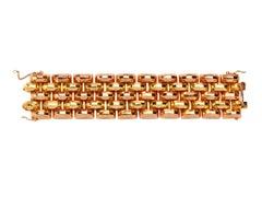 Two Color Gold Wide Bracelet