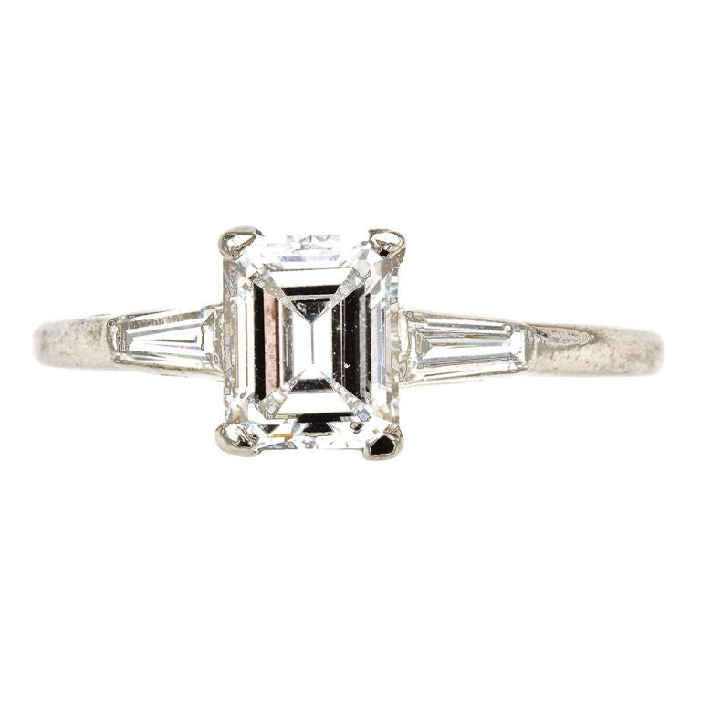 cartier d color emerald cut ring at 1stdibs