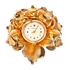 TIFFANY Retro Open Flower Watch Clip