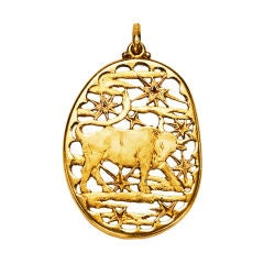 Buccellati Gold Taurus Pendant