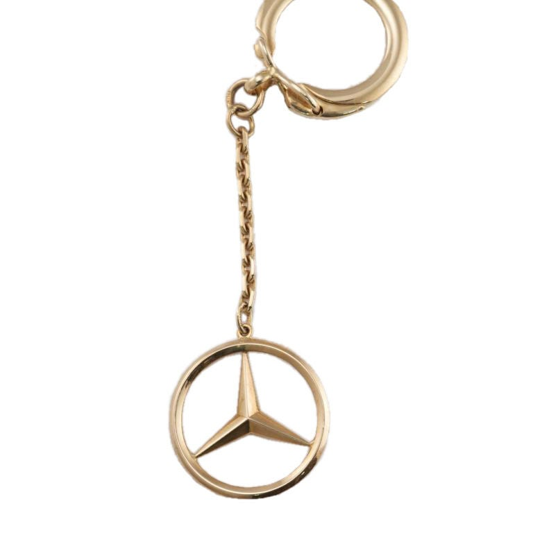 Mercedes benz symbol gold key chain at 1stdibs for Mercedes benz key chain