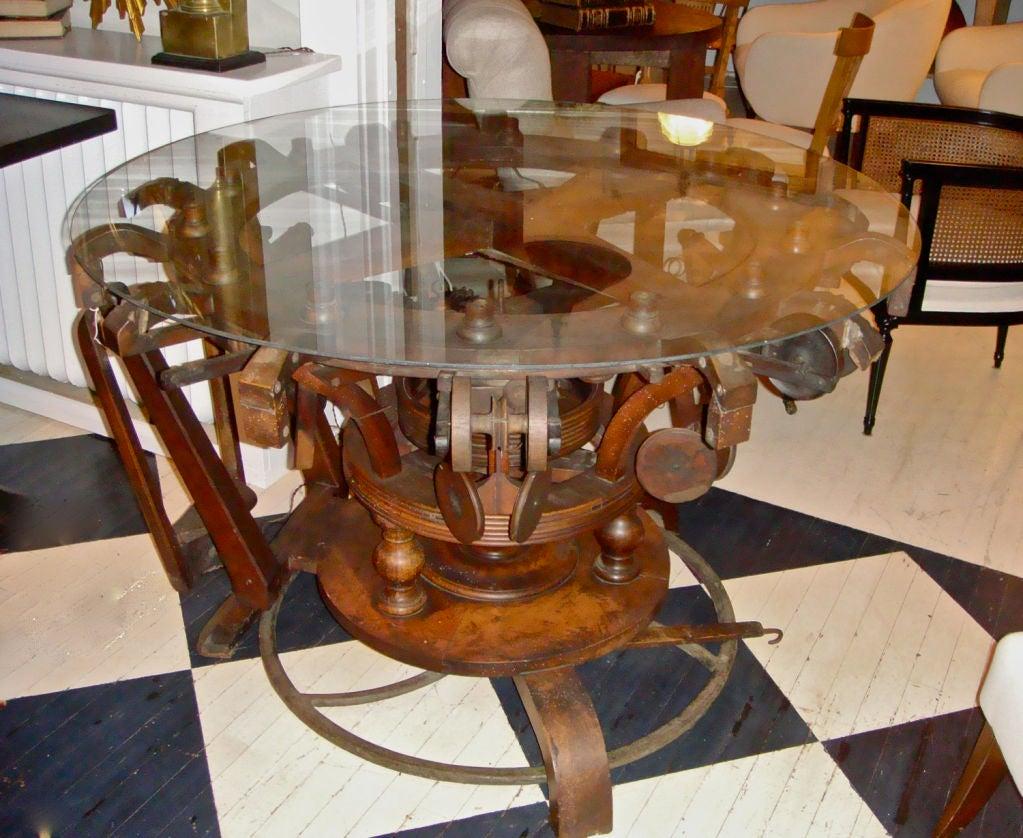 French Knitting Machine : Th century french knitting machine table at stdibs