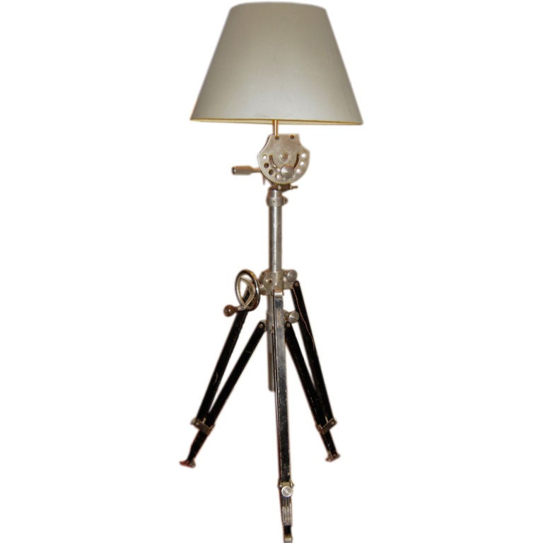 Great surveyor39s lamp at 1stdibs for Surveyors floor lamp wood
