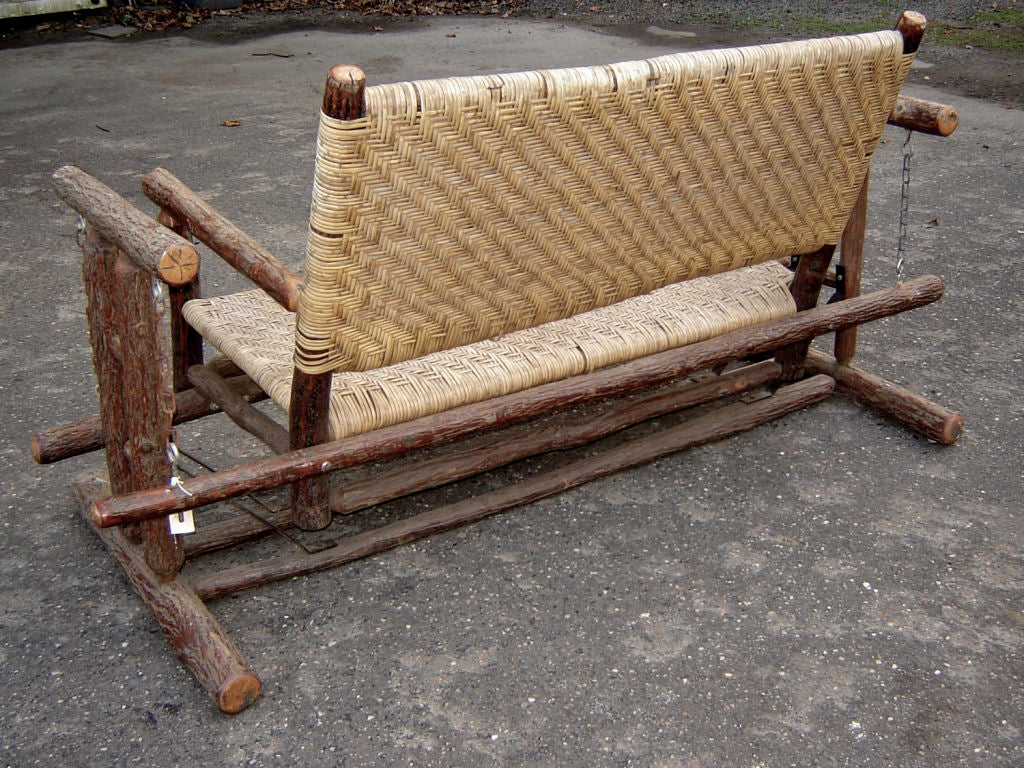 Old hickory porch swing at 1stdibs for Old porch swing