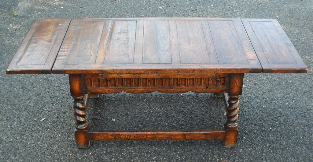 Coffee Table With Pull Out Leaves At 1stdibs