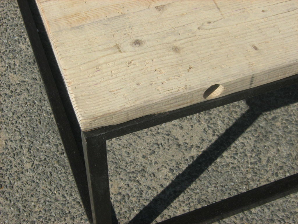 Reclaimed Oak Top Coffee Table At 1stdibs