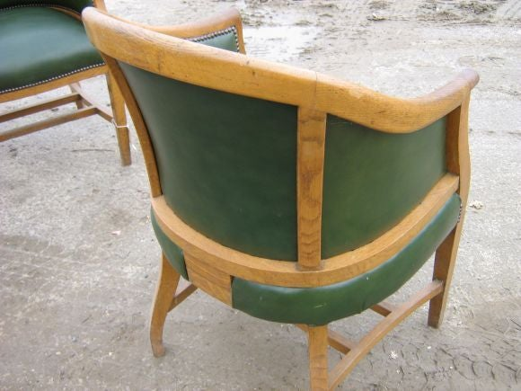 Set Of Antique Barrel Back Chairs 3