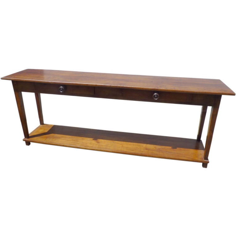 Narrow Server With Two Drawers At 1stdibs