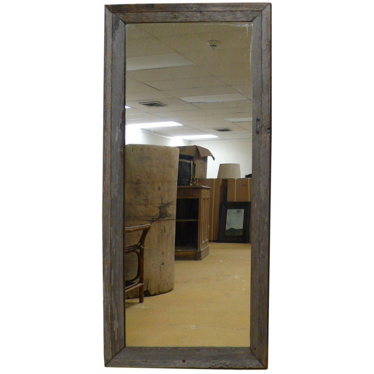 large rustic mirror at 1stdibs