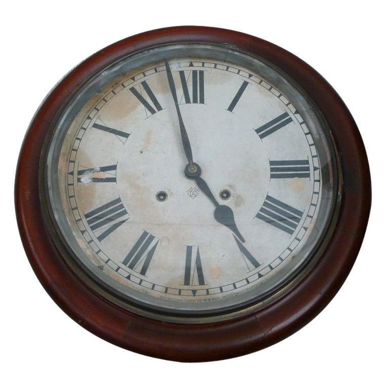 Ansonia Wall Clock At 1stdibs