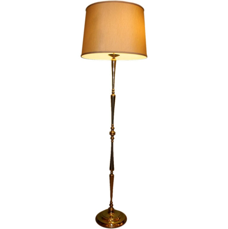 French 1940 39 s brass floor lamp at 1stdibs for 1940s hollywood studio floor lamp