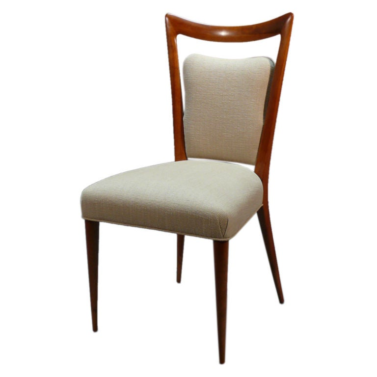 Sculptural Side Chair In The Style Of Gio Ponti At 1stdibs