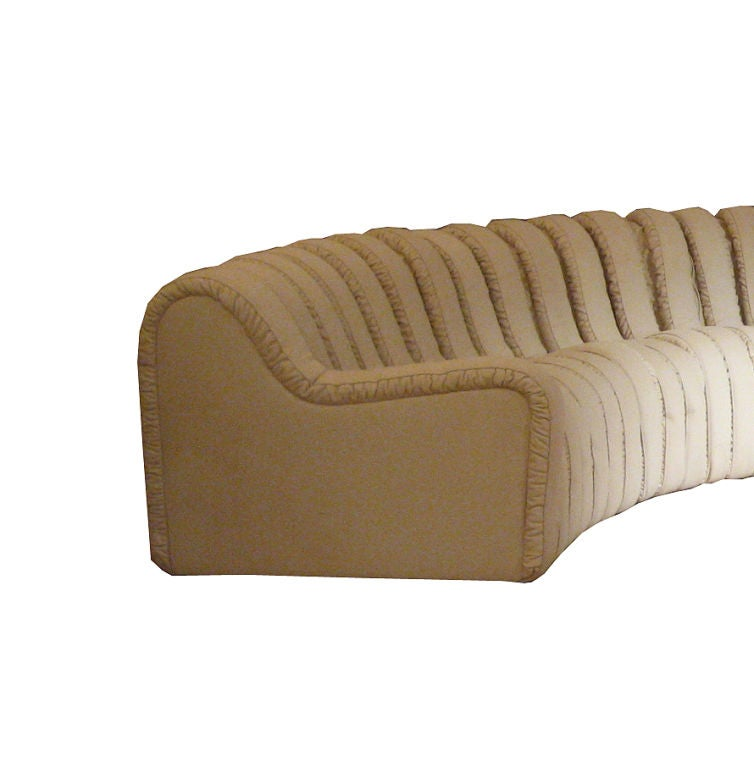 "Segmented ""caterpillar"" adjustable leather sofa by De Sede image 2"