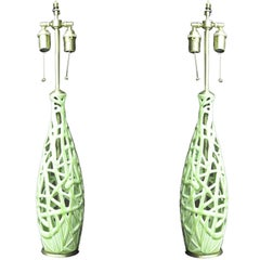 Pair of  french Art nouveau style table lamps.